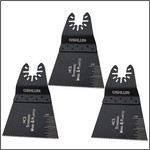 Oshlun 2-2/3-Inch Standard HCS Oscillating Tool Blade for Standard and Quick Change Tools for Fein Multimaster, Dremel, and Bosch, 3-Pack - Designed for Wood & Plastic