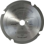 Oshlun 160mm 4 Tooth PCD Saw Blade with 20mm Hole, for Fiber Cement