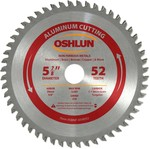 Oshlun 5-7/8-Inch 52 Tooth ATB Saw Blade with 20mm Arbor (5/8-Inch Bushing) for Aluminum and Non Ferrous Metals