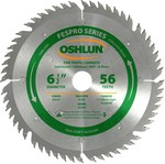 Oshlun 6-1/2-Inch 56 Tooth FesPro Thin Kerf ATAFR Saw Blade with 20mm Arbor for DeWalt DWS520 and Makita SP6000